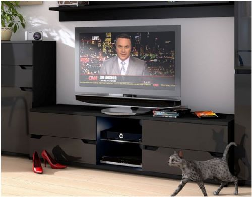 Aspen TV Unit High Gloss Black - 2587